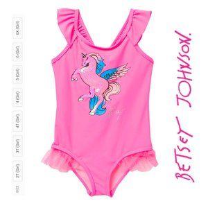 NWT Betsey Johnson Pink Unicorn 1-Piece Swimsuit